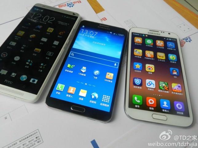 Comparaison du Galaxy Note 3 avec le HTC One Max et le Galaxy S4