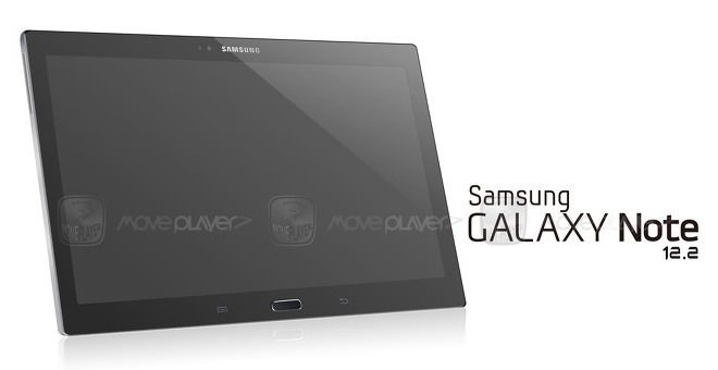 Une image de la tablette Galaxy Note 12.2 de Samsung en fuite sur la toile