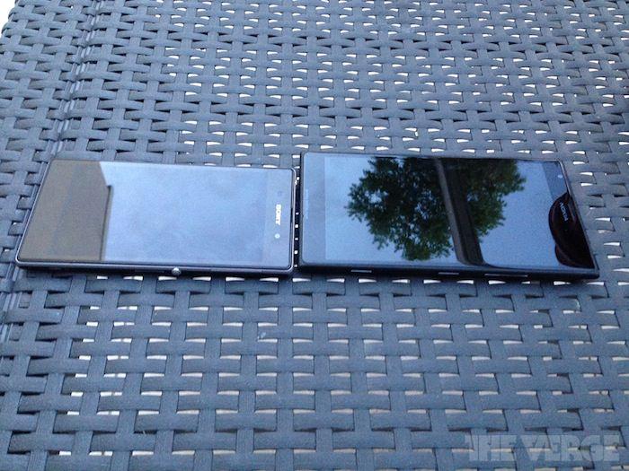 Comparaison Lumia 1520 vs. Xperia Z en face à face