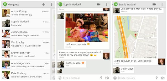 Hangouts permet désormais d'envoyer des SMS