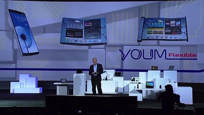 Samsung fait miroiter ses écrans flexibles YOUM