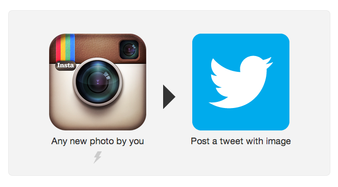 Une recette IFTTT permet de poster une photo Instagram sur Twitter