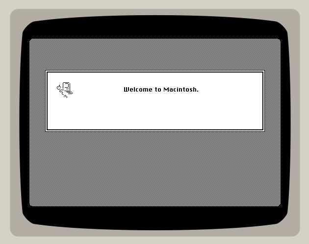 Mac OS System 7 également émulé par PCJS