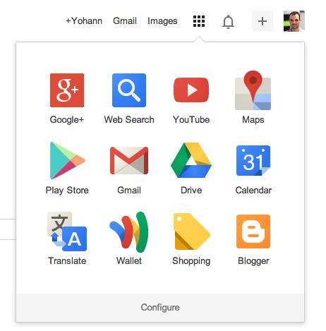 Le lanceur d'applications Google a maintenant une grille 3 x 4 et un lien de configuration