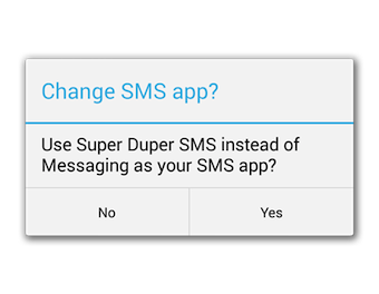 Les développeurs vont désormais devoir intégrer une modale de choix d'application SMS