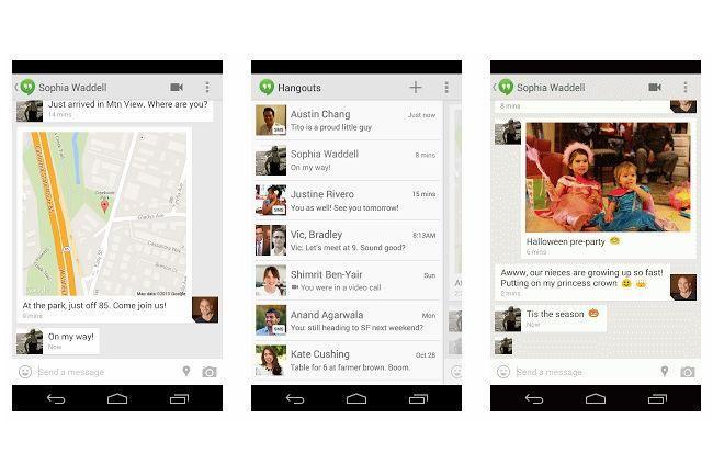 Il est désormais possible d'envoyer des SMS depuis Hangouts