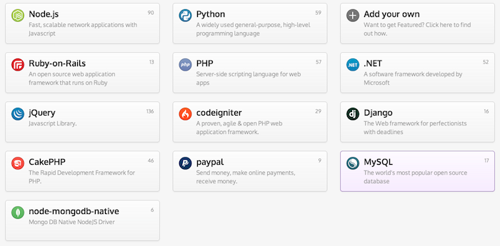 Vous trouverez ces ressources sur les langages, les frameworks, etc ...