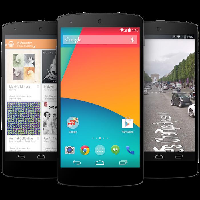 Le Nexus 5 est maintenant réel, et vendu à 349 euros pour 16 Go, 399 euros pour 32 Go