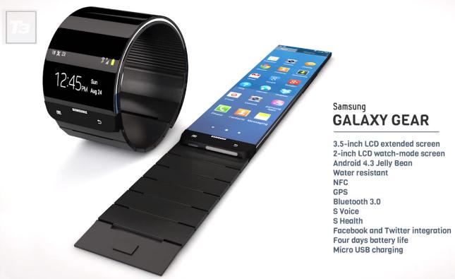 Peut-être aurions-nous préféré voir une telle conception pour la Galaxy Gear