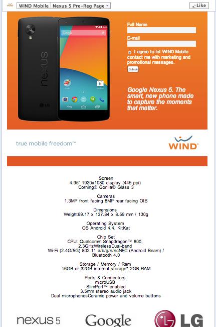 Les spécifications officieuses du Nexus 5 mais pourtant si réelles