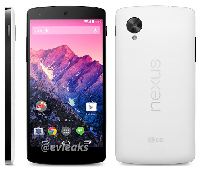 Nexus 5 : une version blanche et une date de lancement le 1er novembre