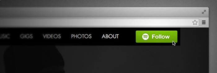 Spotify dévoile son bouton Follow permettant aux fans de suivre les musiciens de n'importe où