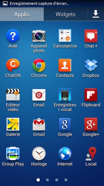Vous avez tout l'environnement Android