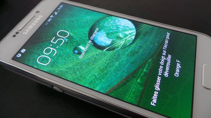 L'écran du S4 Zoom est convenable