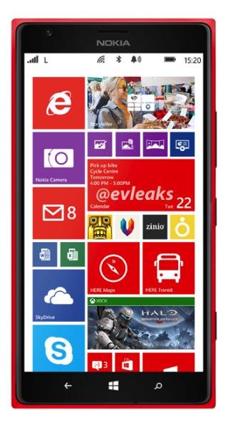 Photo de presse du Nokia Lumia 1520