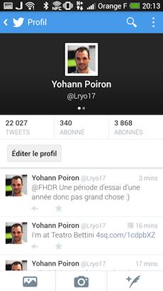 Vue du profil