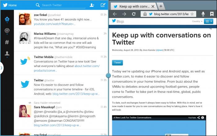 Un mode 'multitâches' sur Twitter