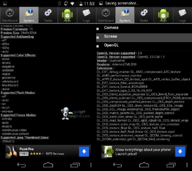 Screenshots Nexus 5 - 2
