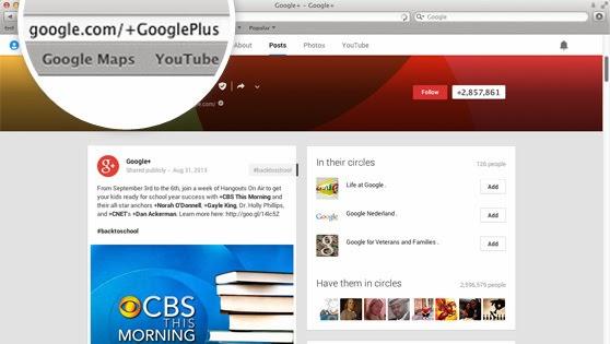 URL personnalisée sur Google+ : compte plus de 30 jours, plus 10 followers et une photo de profil