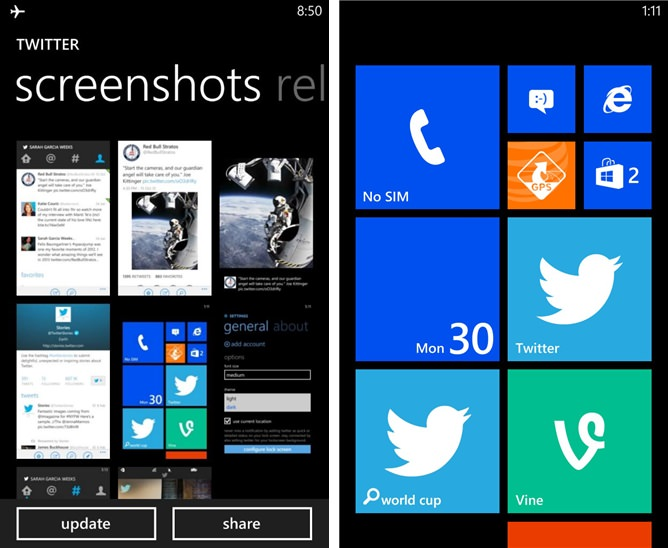 Vine sur Windows Phone pourrait bientôt arriver si l'on en croit le 'teasing' de Twitter et Microsoft