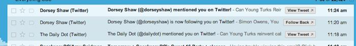Vous pouvez maintenant répondre aux notifications Twitter sans avoir à ouvrir chaque e-mail !