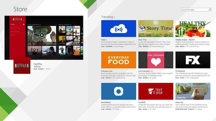Un meilleur Windows Store