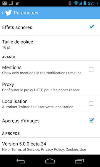 Par défaut dans la nouvelle application Twitter vous allez voir les images des tweets