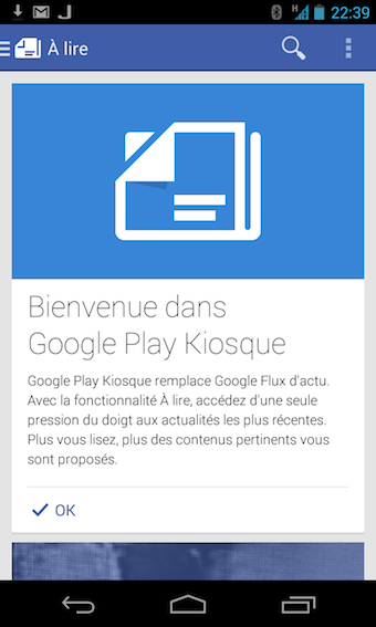 Bievenue dans Google Play Kiosque