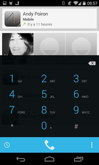 Nouvelle application Téléphone