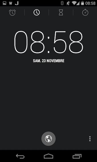 Nouvelle application Horloge