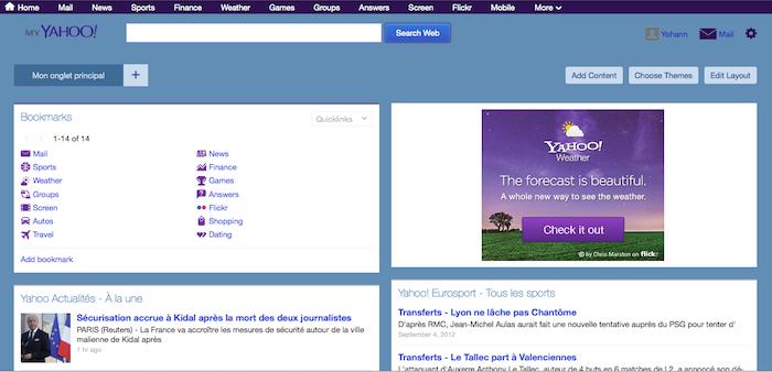 Le nouveau service My Yahoo : une bonne alternative à iGoogle