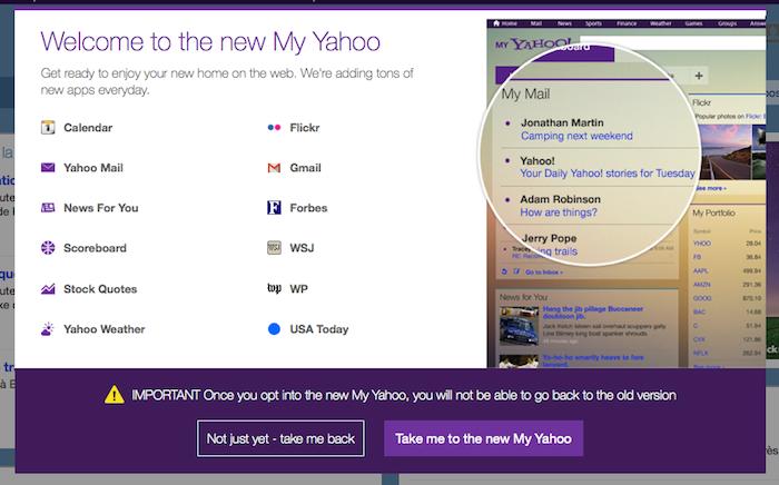 Démarrer avec le nouveau My Yahoo