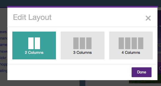 Modifier la conception de page
