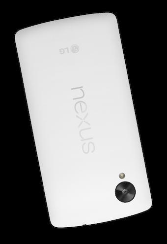 Vue de dos du Nexus 5
