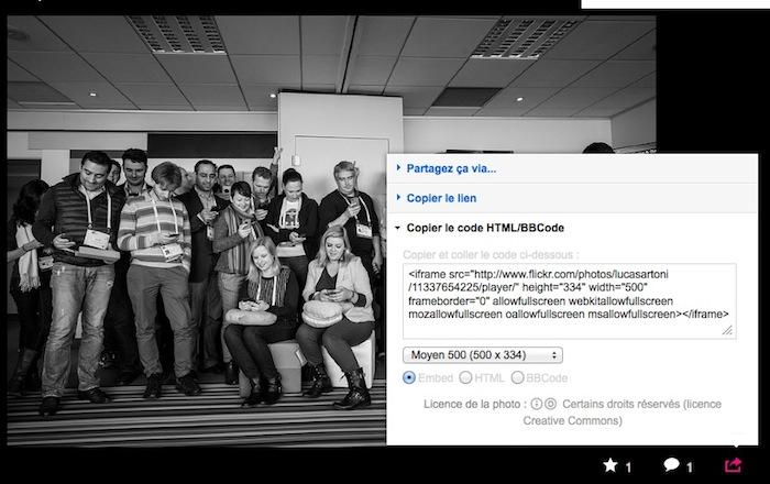 Flickr vous permet désormais d'intégrer des photos sur le Web