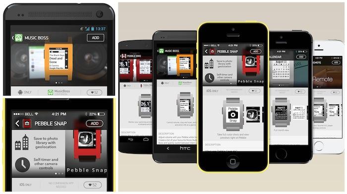 La boutique d'applications officielle de la Pebble arrivera 'début 2014'