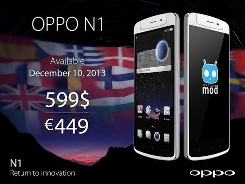 Le Oppo N1 vient s'exporter à l'international