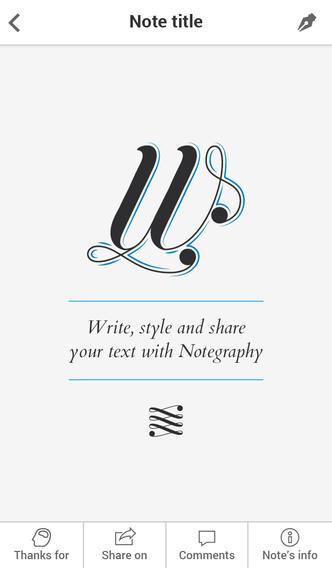 Création d'une belle note sur Notegraphy