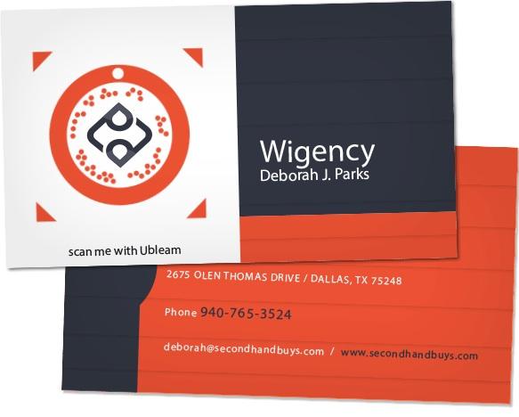 LeWeb'13 : Ubleam, la nouvelle technologie de logo intelligent sur une carte de visite