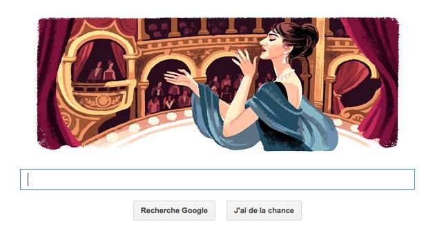 90ème anniversaire de Maria Callas : le doodle commémore la naissance de la chanteuse d'opéra