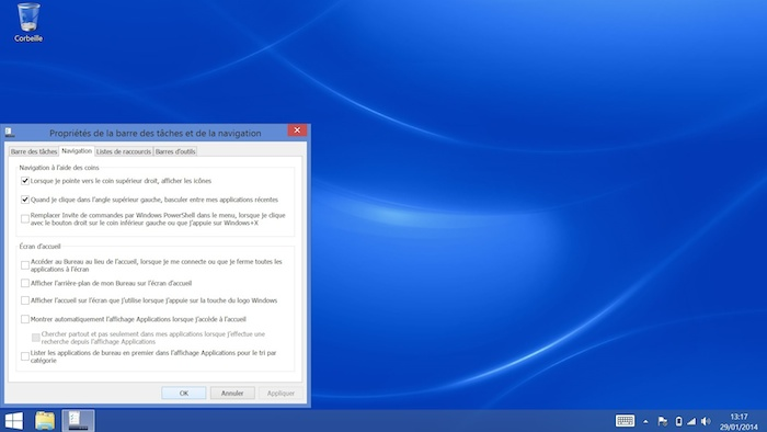 Choix du même fond d'écran sur le bureau que l'écran d'accueil