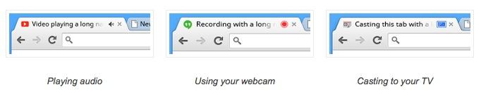 Indicateurs d'onglet dans Chrome 32