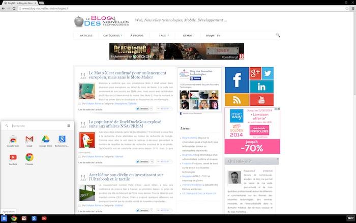 Chrome OS sur Windows 8 c'est désormais possible avec Chrome 32