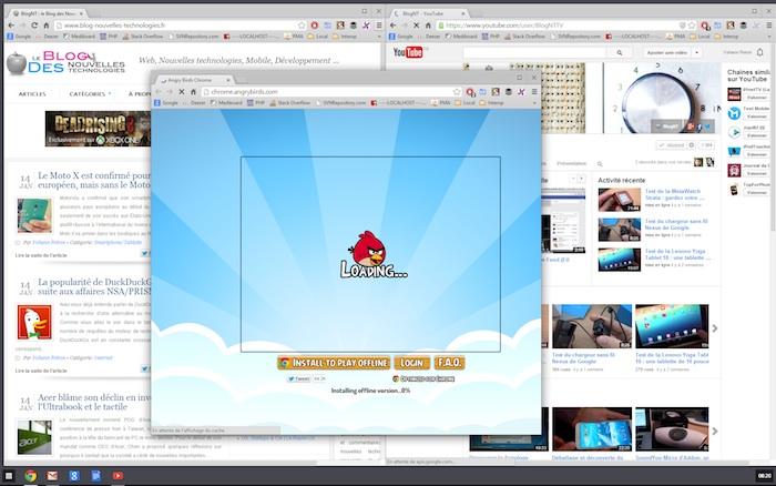 Du multi-fenêtres dans Chrome 32 pour Windows 8