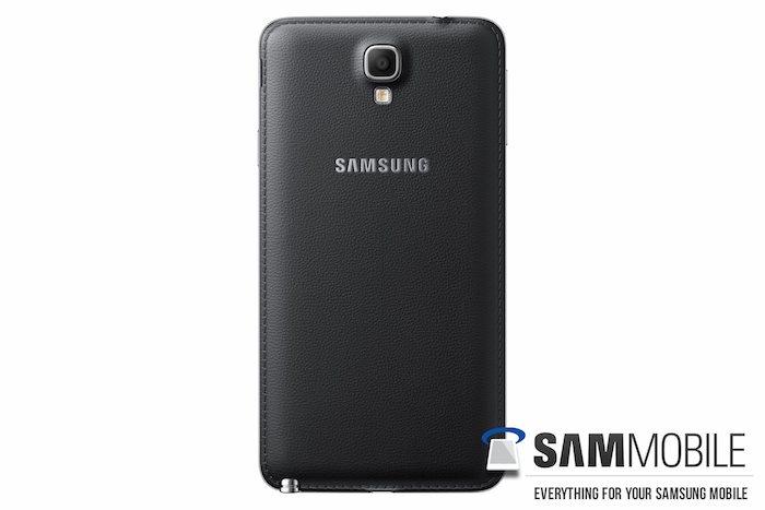 Galaxy Note 3 Neo : Vue de dos