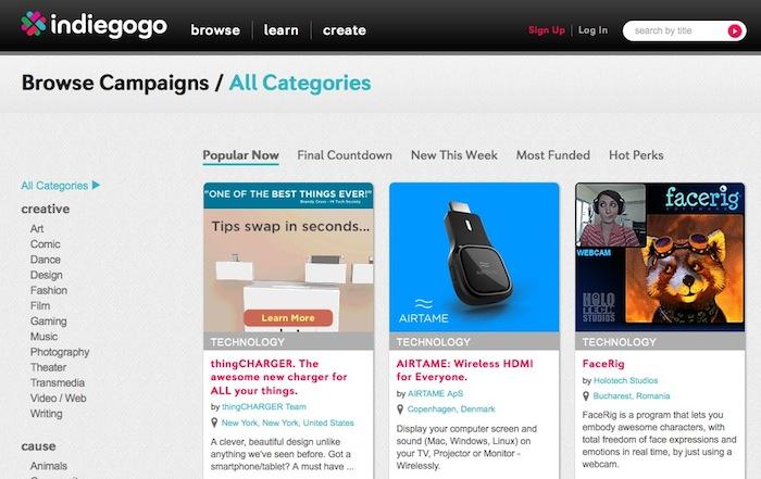 Intégrer des campagnes Indiegogo sur vos propres sites va être possible