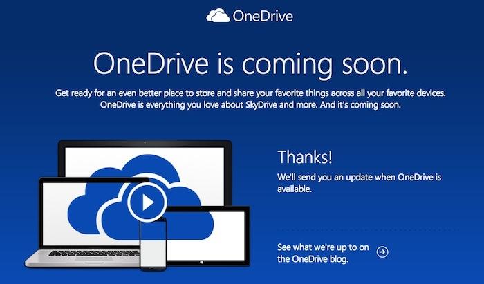 Microsoft renomme SkyDrive en OneDrive