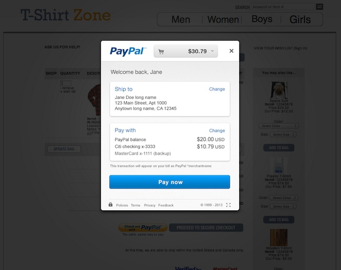 PayPal simplifie le paiement en ligne, un processus plus rapide et plus simple