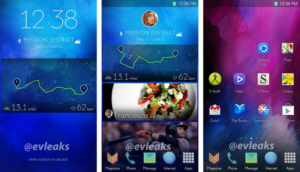 Serait-ce la nouvelle interface utilisateur de TouchWiz pour le Galaxy S5 ?
