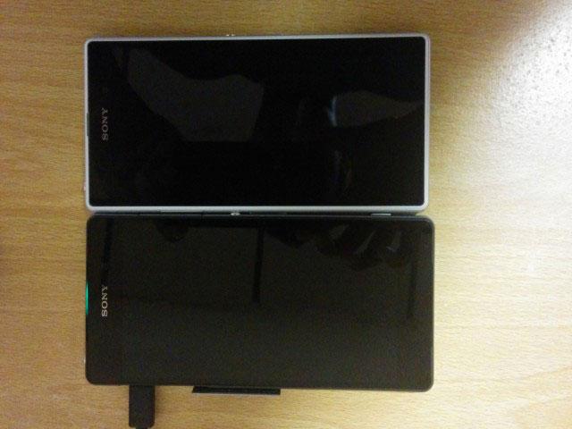 Le Sony Sirius aux côtés du Xperia Z1 - Vue de dessus